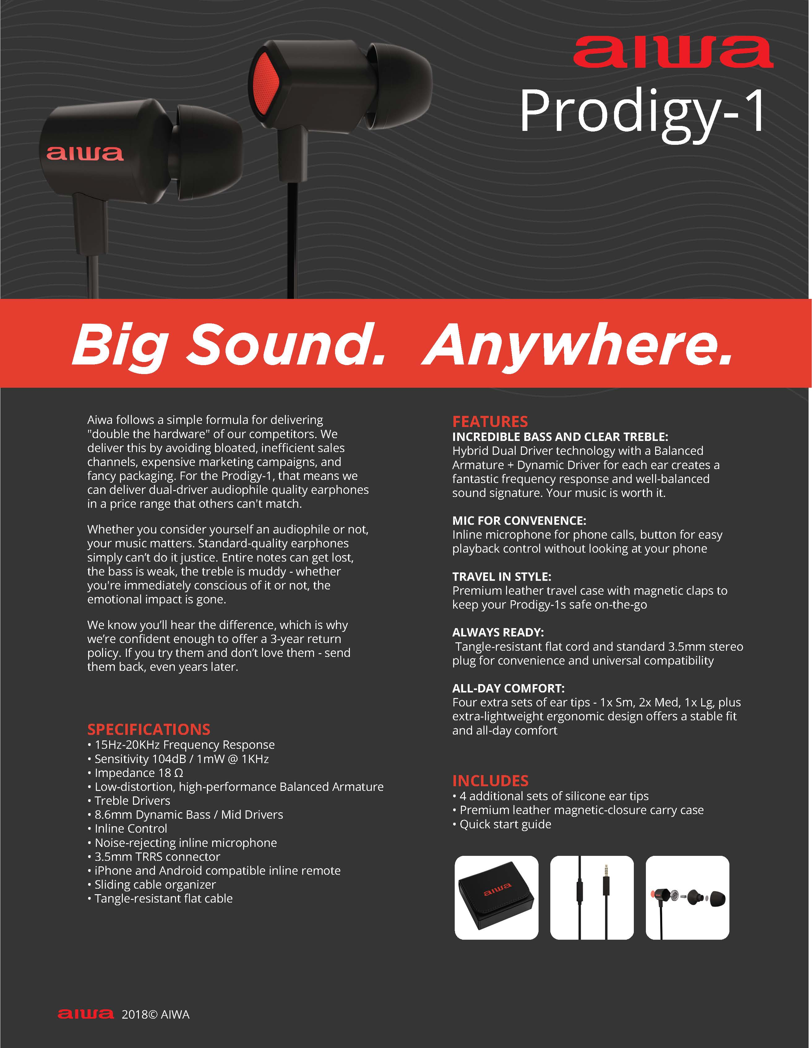 aiwa prodigy-1 sale sheet