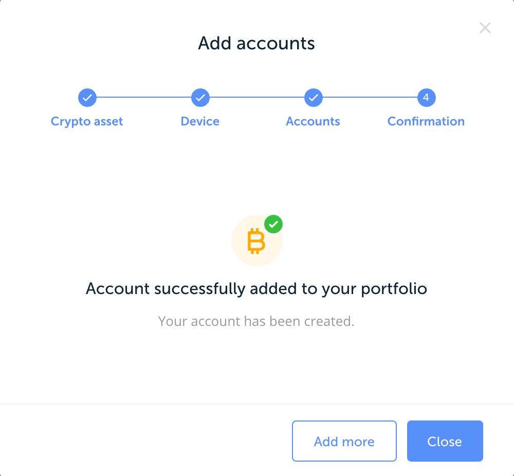 Erfolgsmeldung Account hinzugefügt