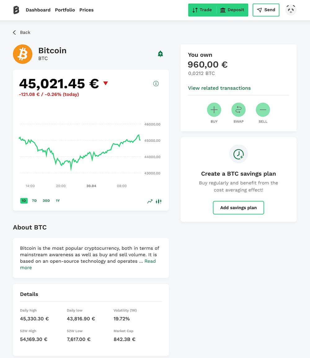 Bitcoin account balance