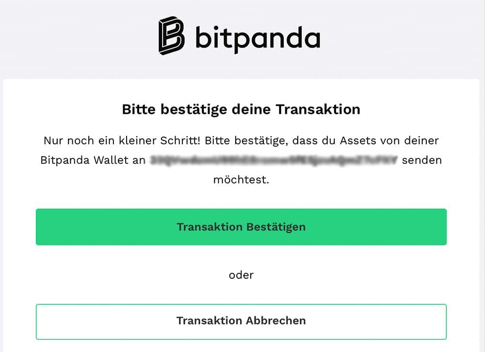 Transaktion bestätigen