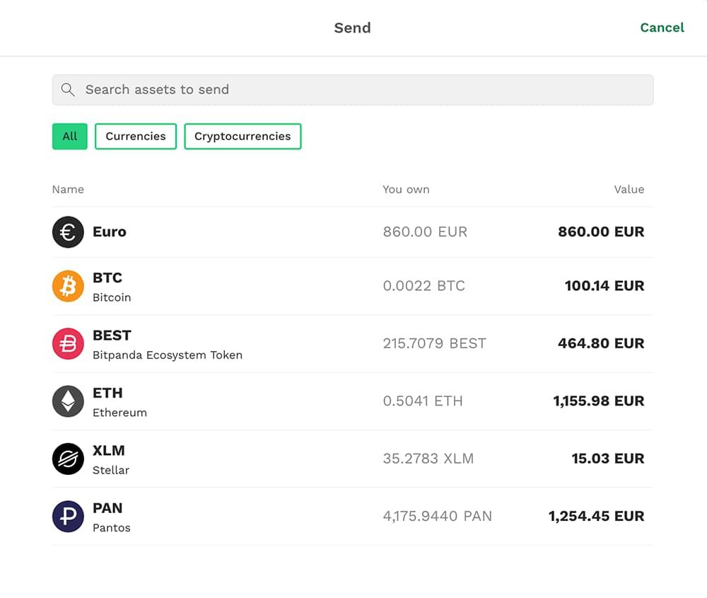Choose online wallet