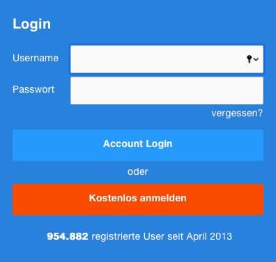 Account anlegen