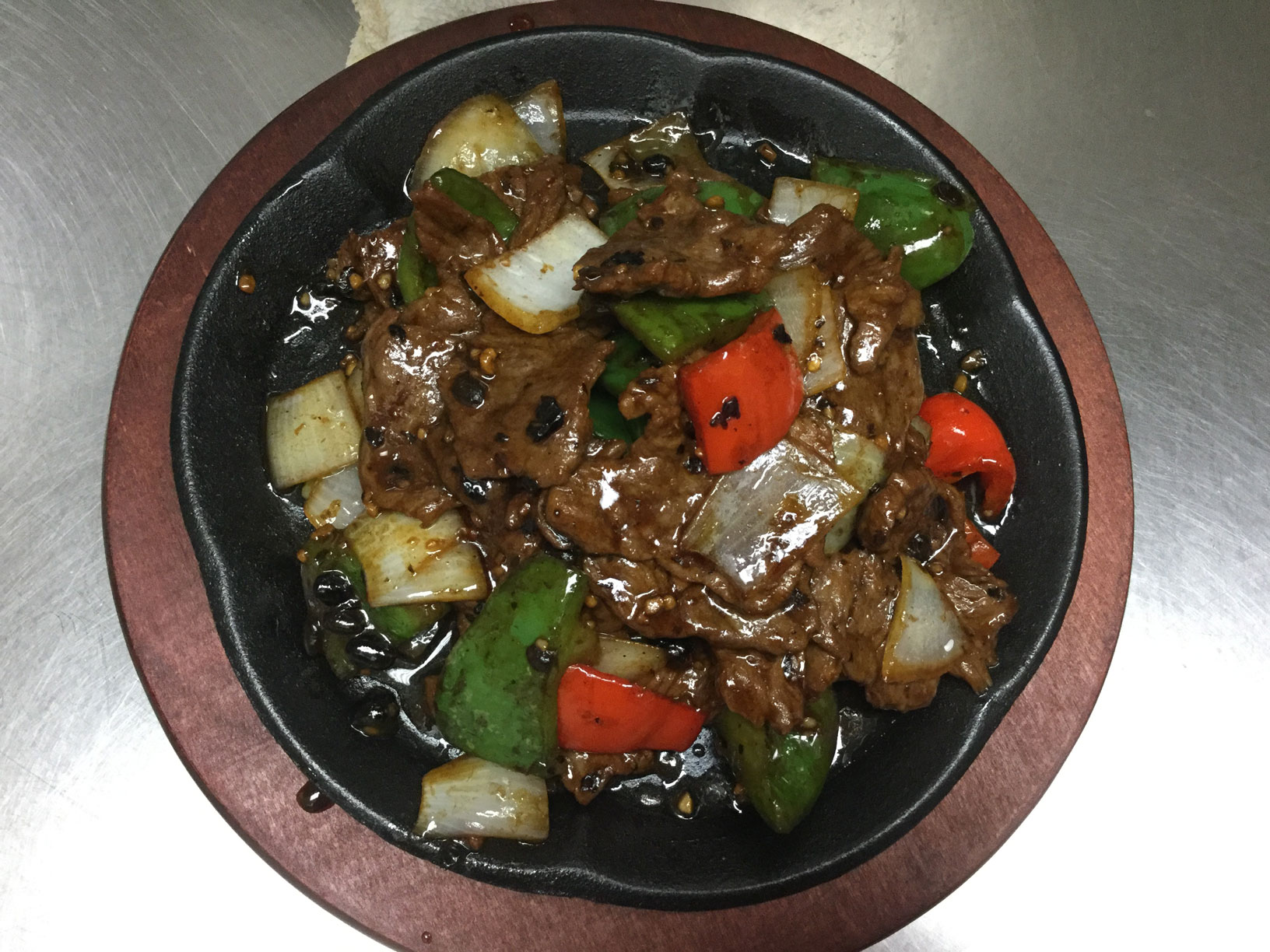black bean sauce with beef