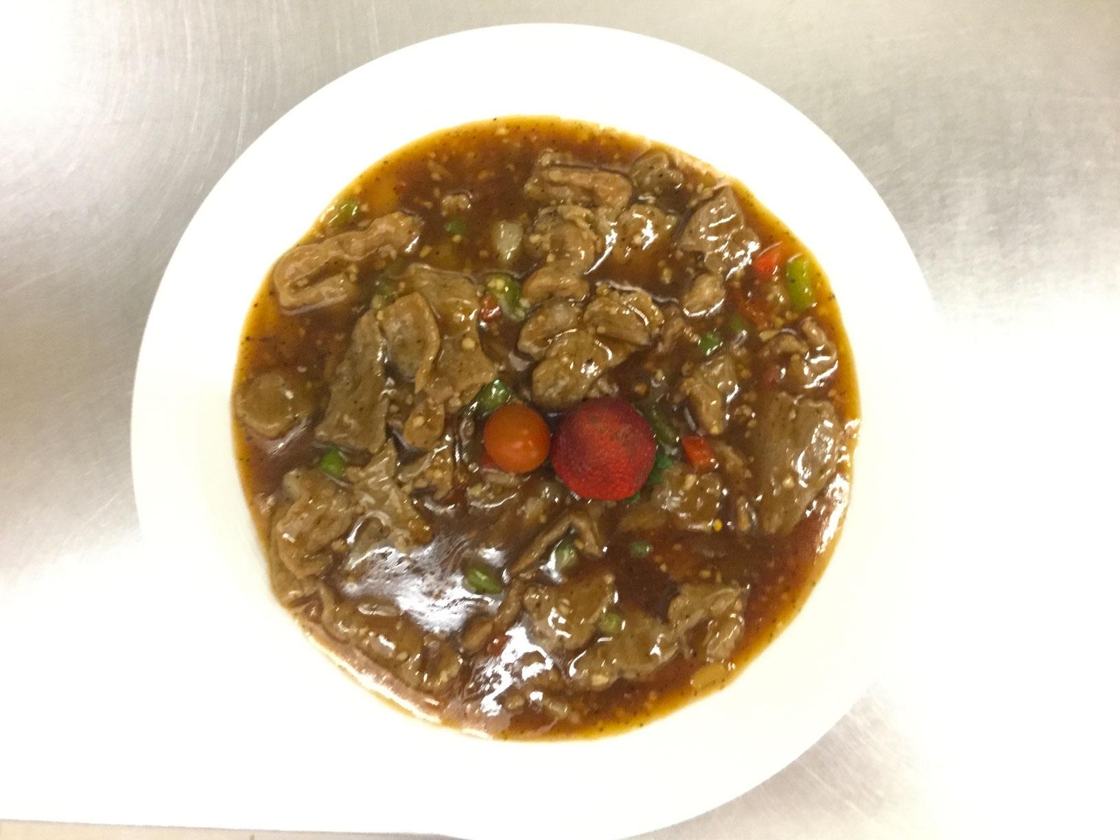 beef in black pepper sauce