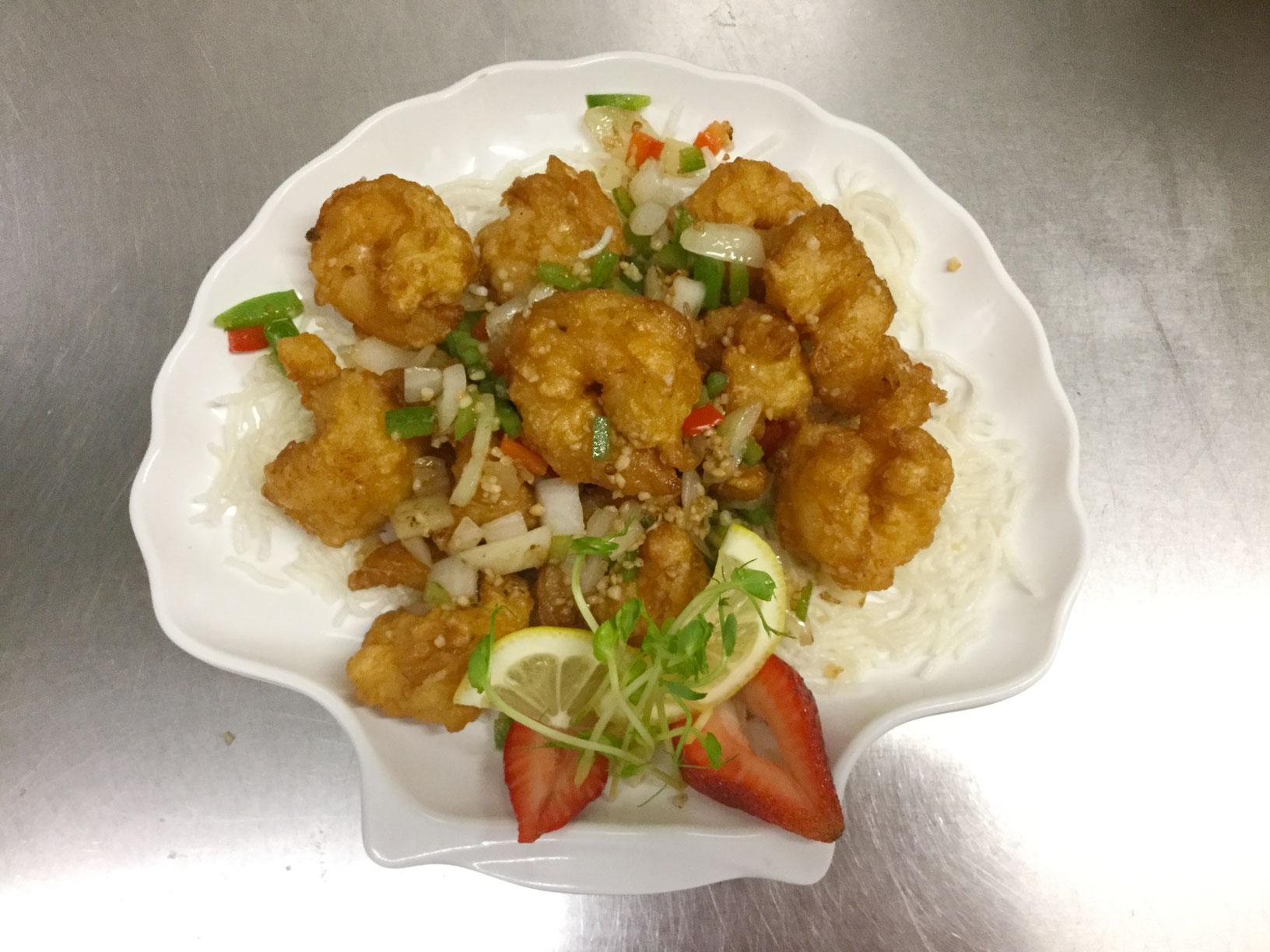 spicy pepper shrimp
