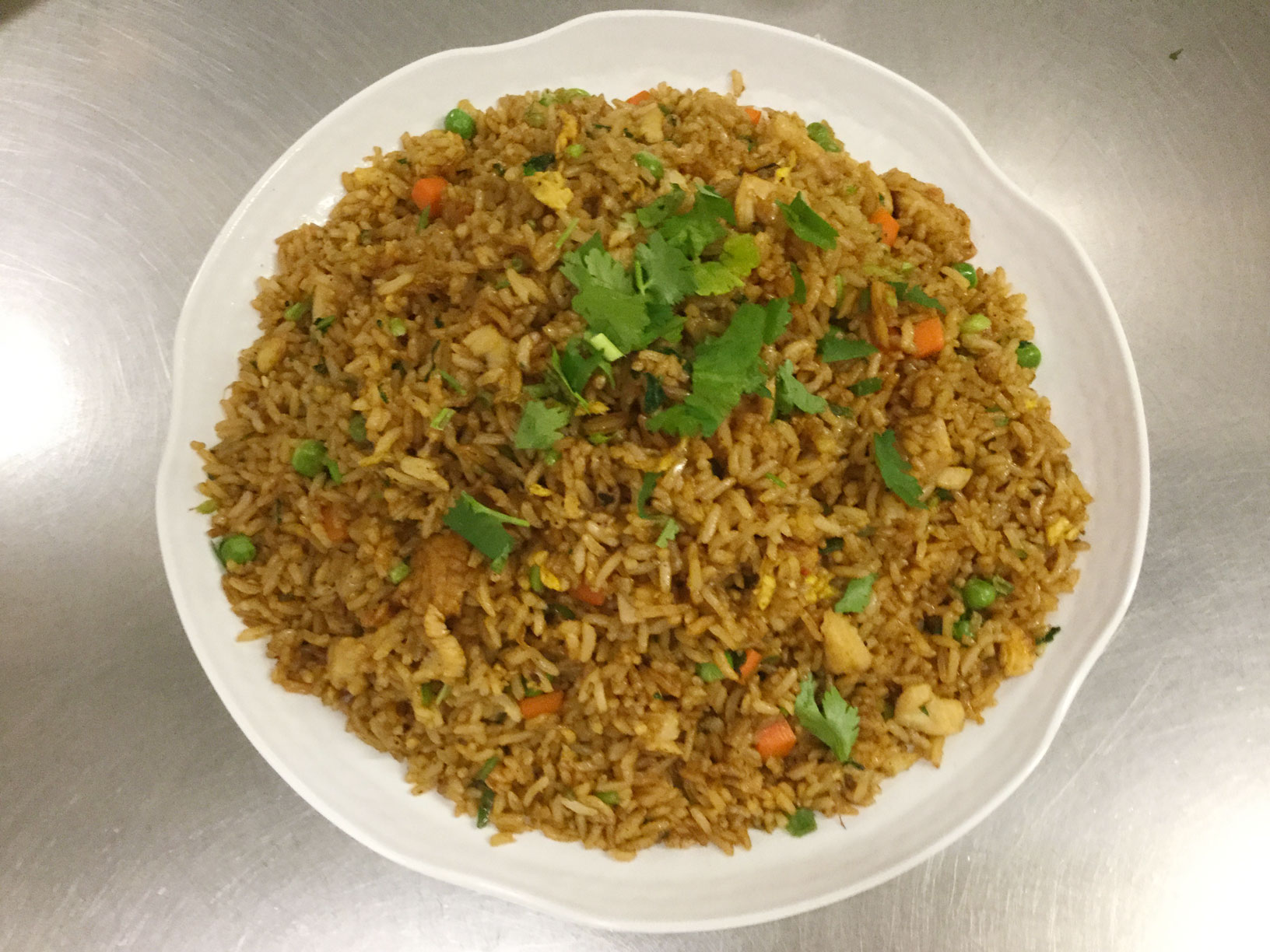 manchurian fried rice with chicken