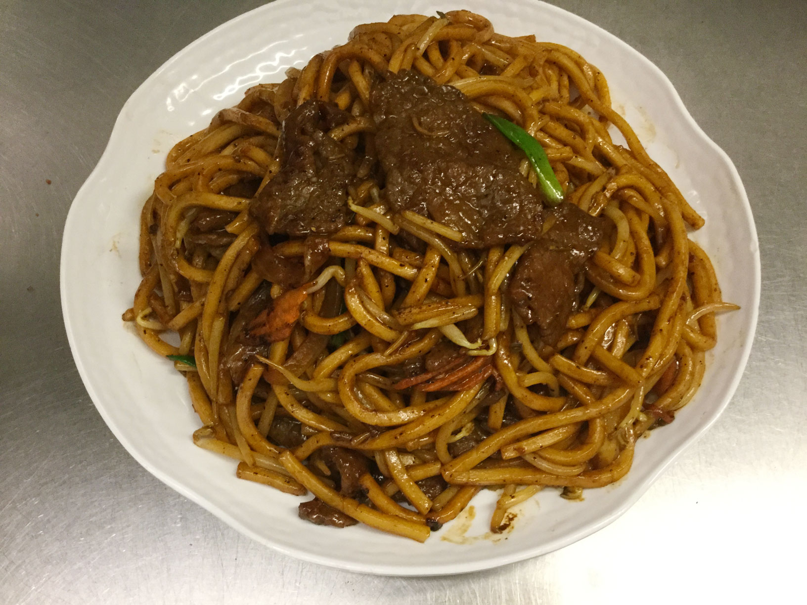 shanghai noodles with beef