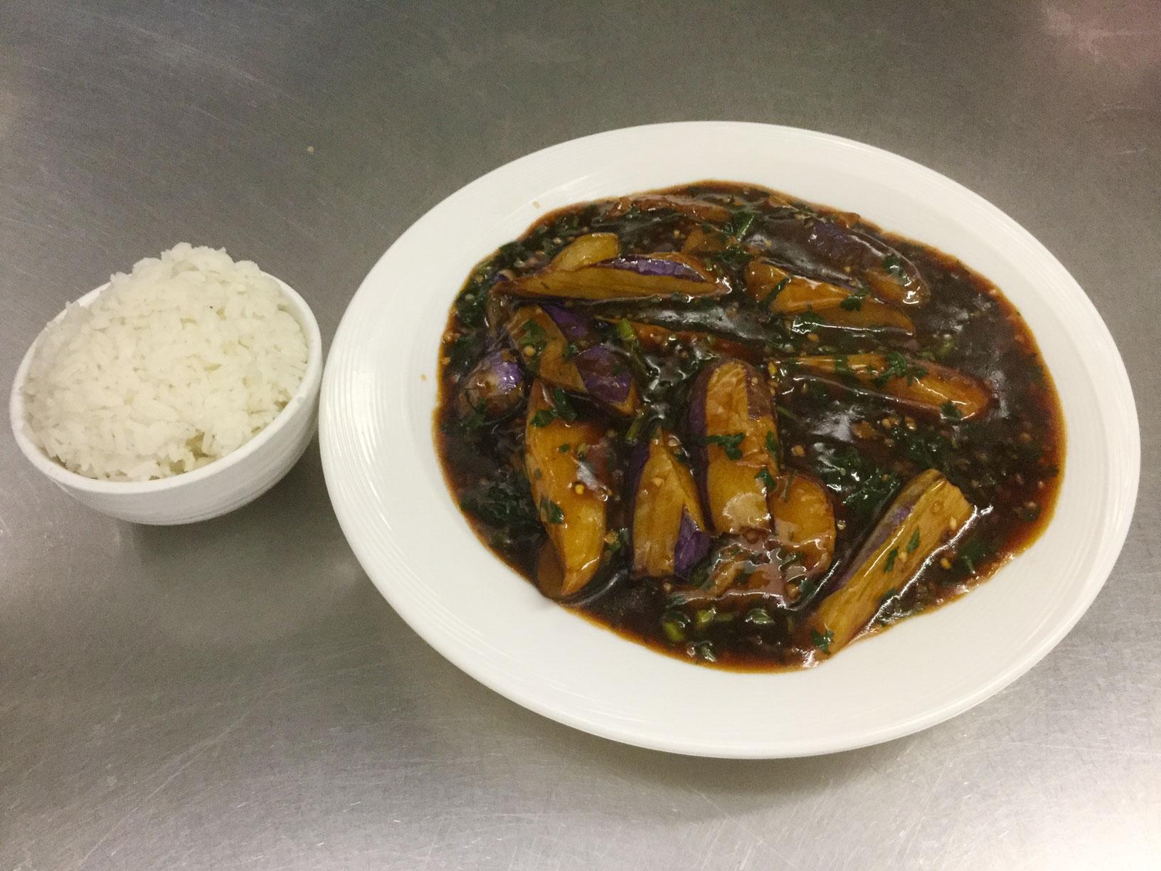 eggplant manchurian style