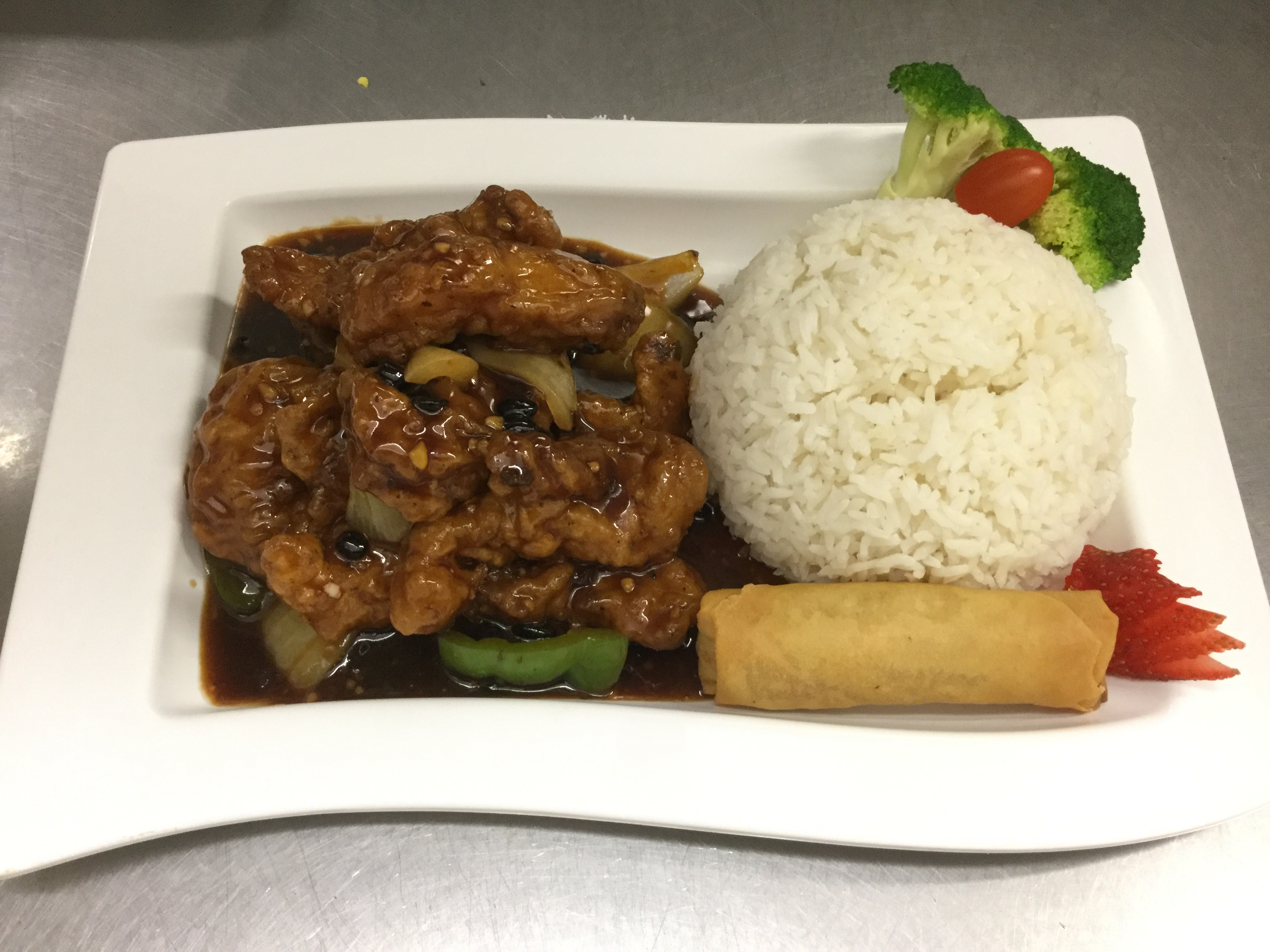 black bean sauce with fish lunch