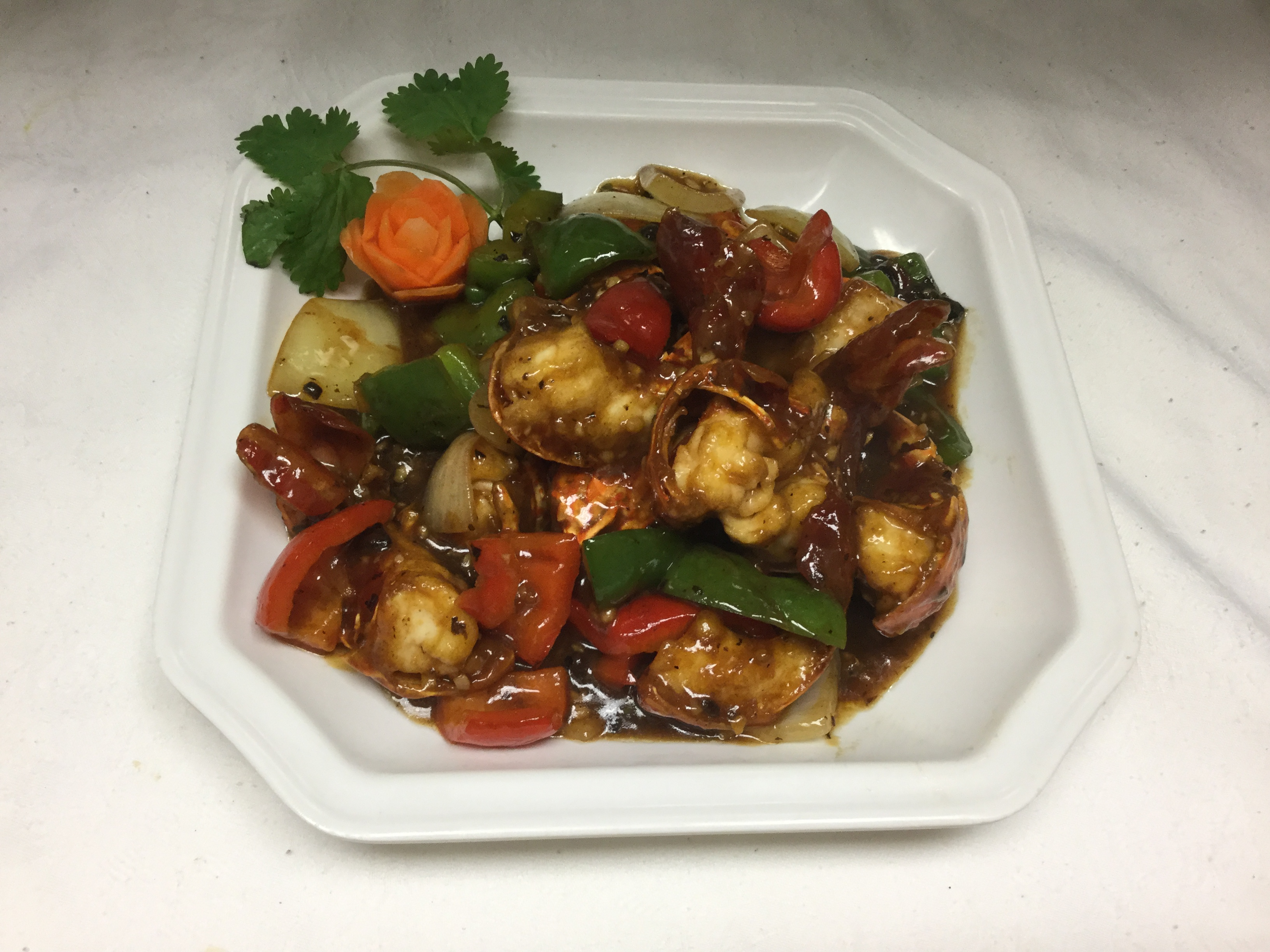 lobster tail with black bean sauce