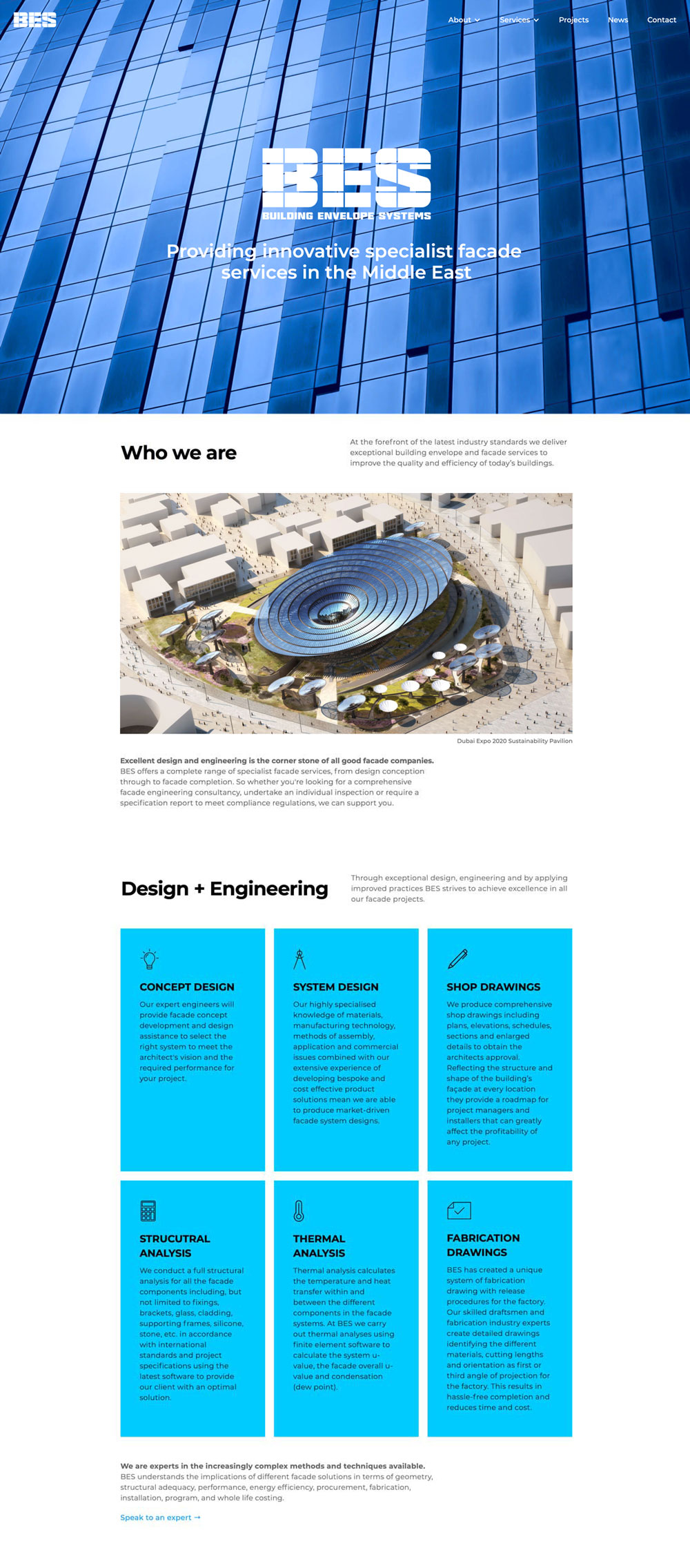 BES website redesign using Webflow