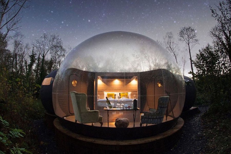 Finn Lought Resort Bubble Domes Irlanda