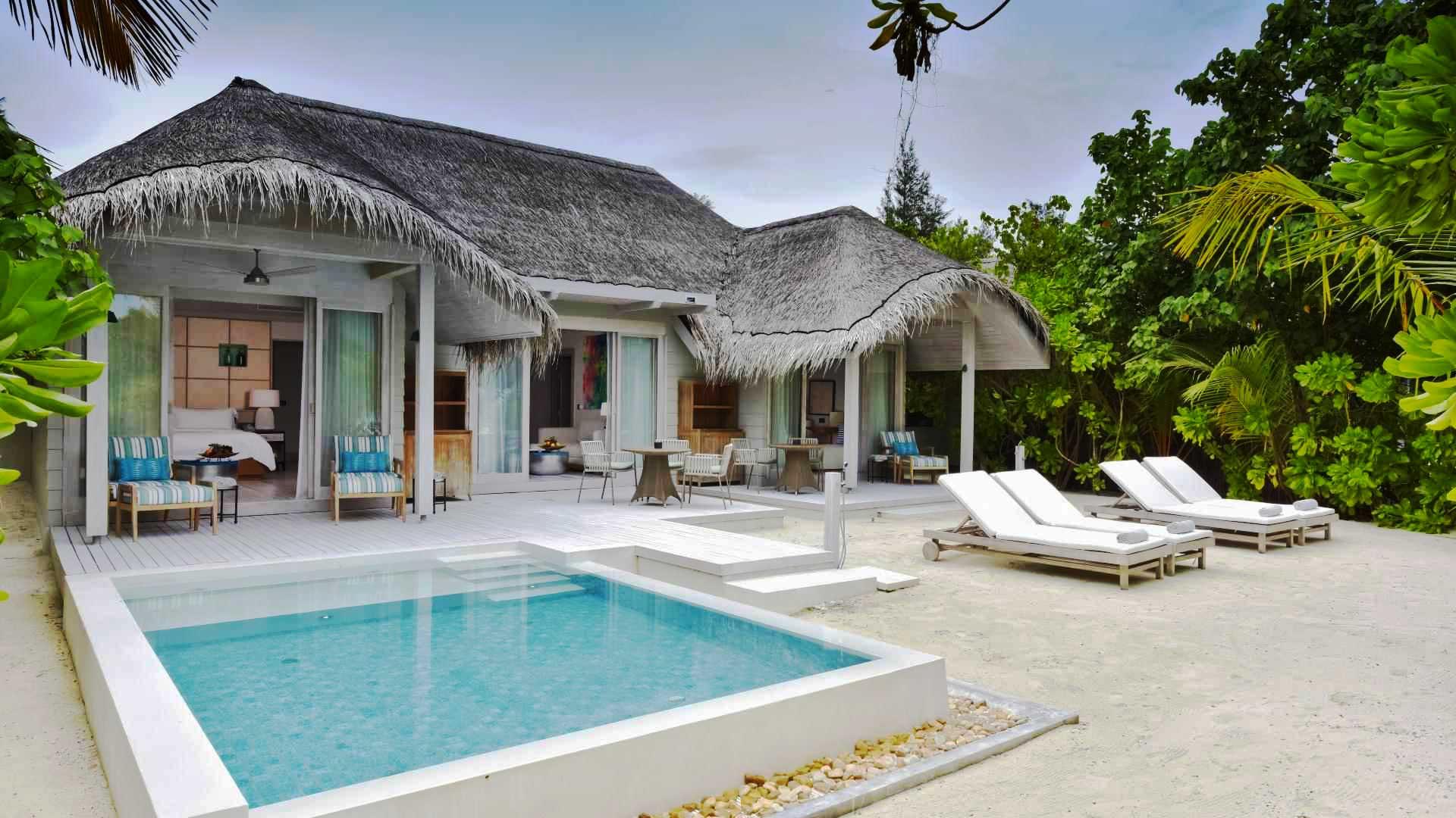 Resort 5 stelle Maldive Kanuhura beach villa