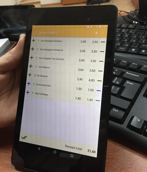 Mobiles Bestell-Terminal von HS-Soft für mehr Flexibilität