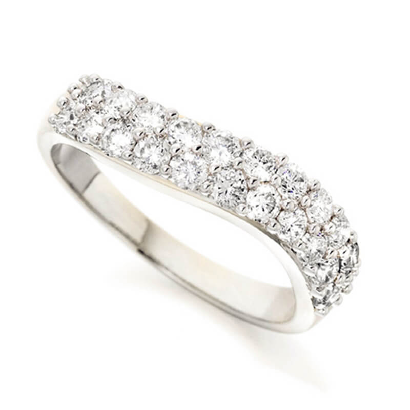 Diamond Wedding Band and Eternity Ring in White Gold and Yellow Gold