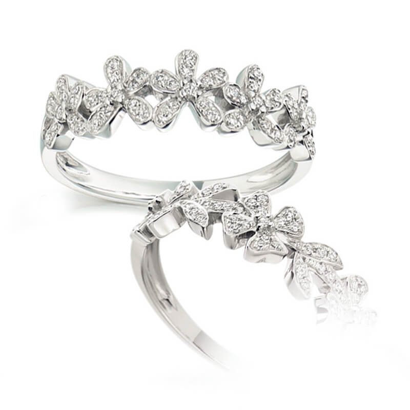 Diamond Fancy Band in White Gold