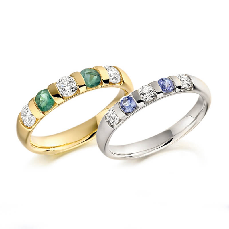 and diamond ring in yellow gold