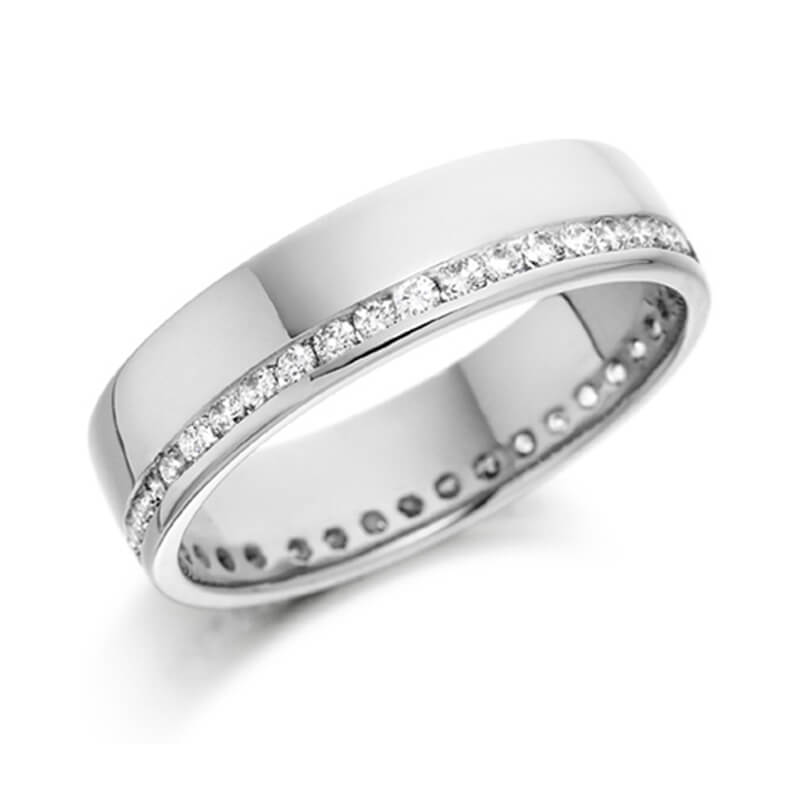 Diamond Wedding Band and Eternity Ring in White Gold