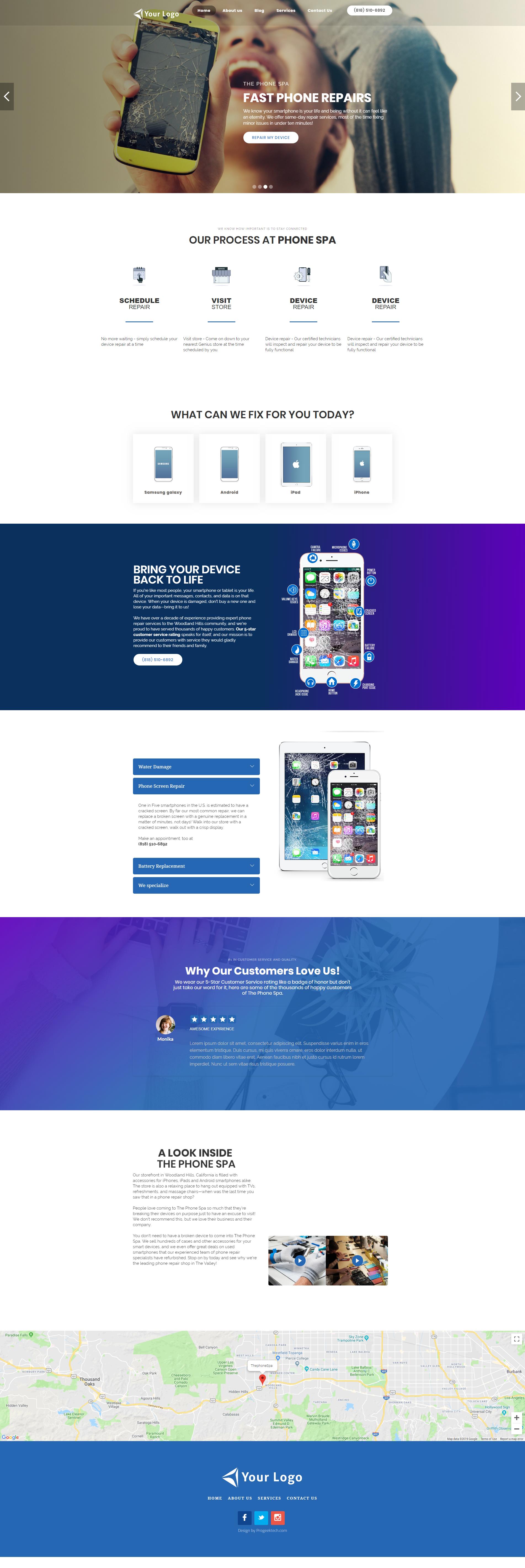 Phone Repair website Theme