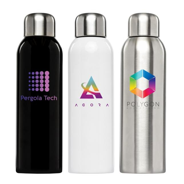 Single-wall stainless steel water bottle (item# WCO-C) from Goldstar Pens.