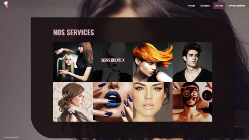 Page de présentation des services - Esthetik