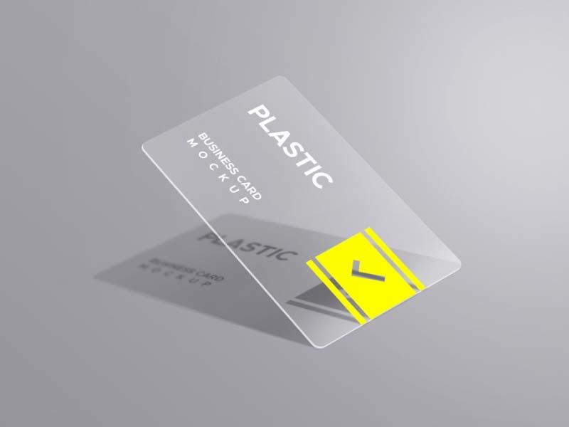 Exemple de carte de visite en plastique