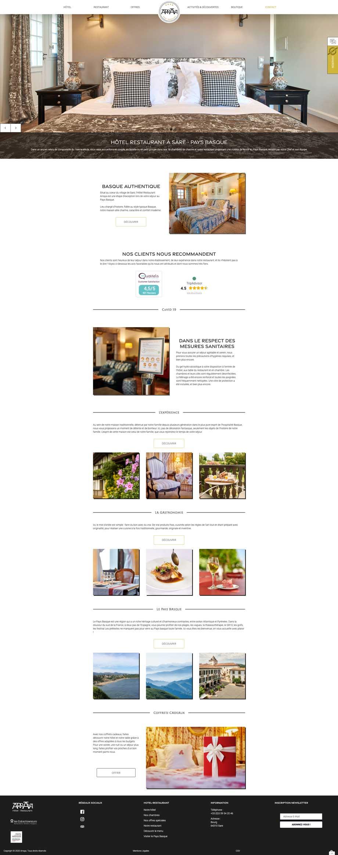 Page d'accueil du site arraya.com