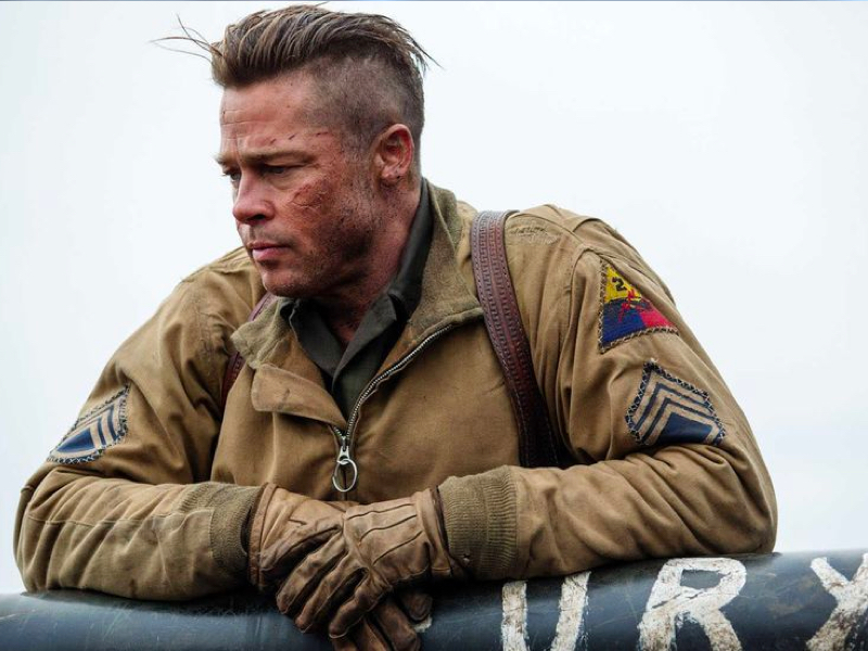 Brad Pitt Hair - Fury - Get The Look with Zeus Pomade Hair Wax