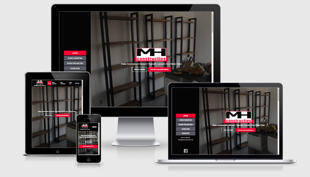 Website design - MH Constructies