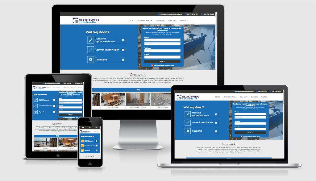 Website design - Slootweg constructie