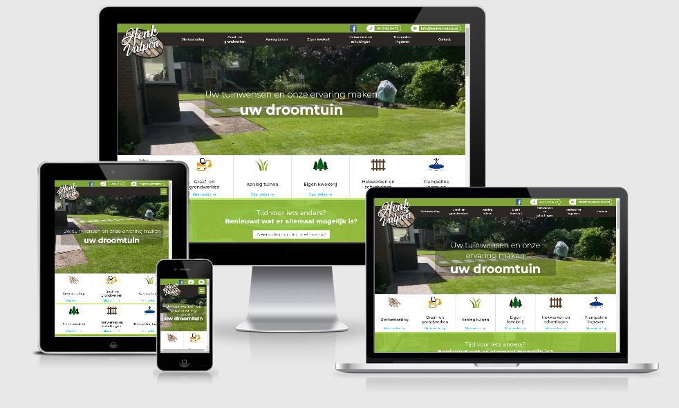 Design en onderhoud voor de website van Henk van Vulpen 
