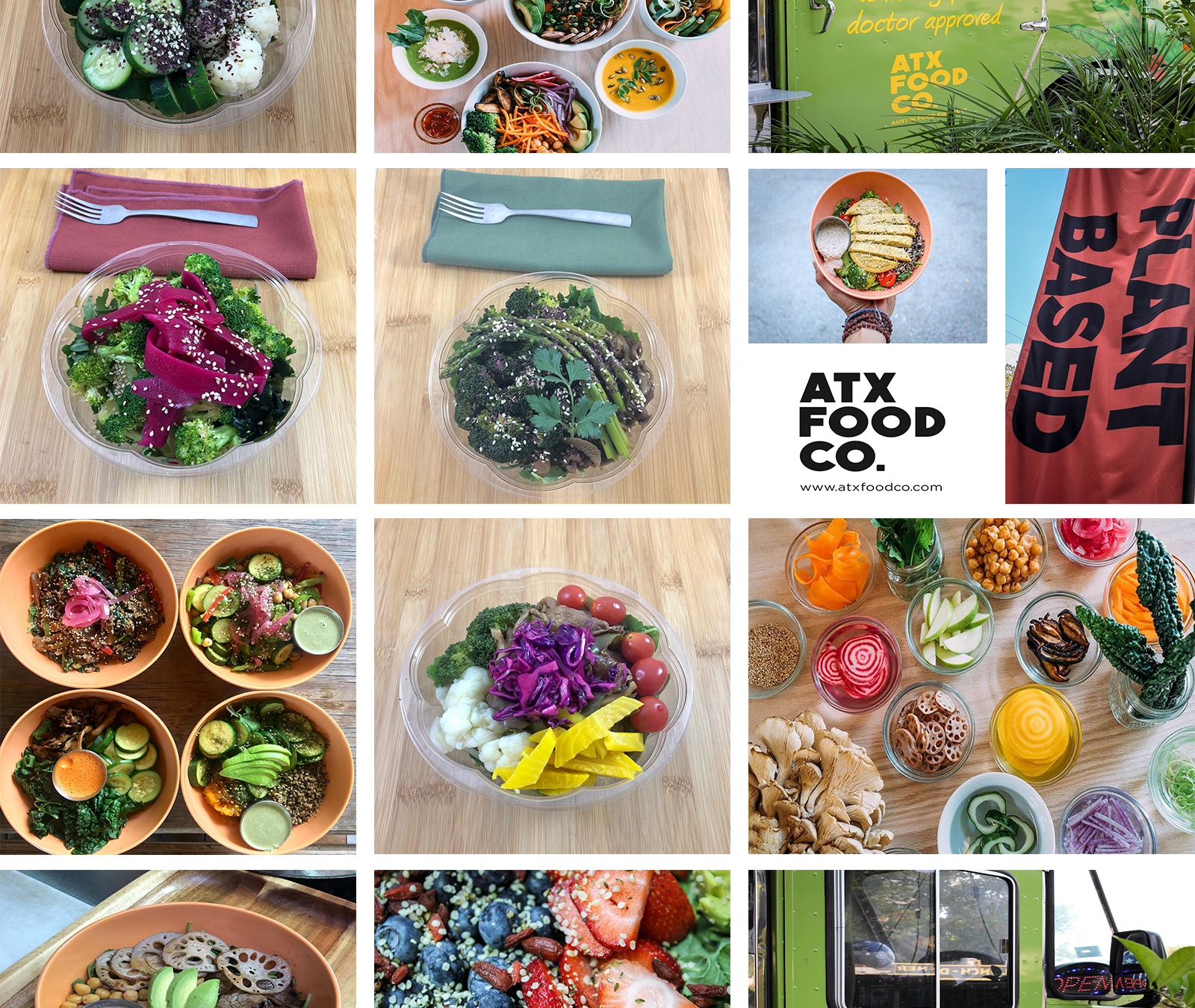 ATX FOOD CO collage of healthy food