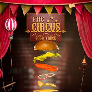 Produção de fotos, ilustração 3D e design gráfico: O Hamburguer Acrobático   Cliente: The Circus Burger