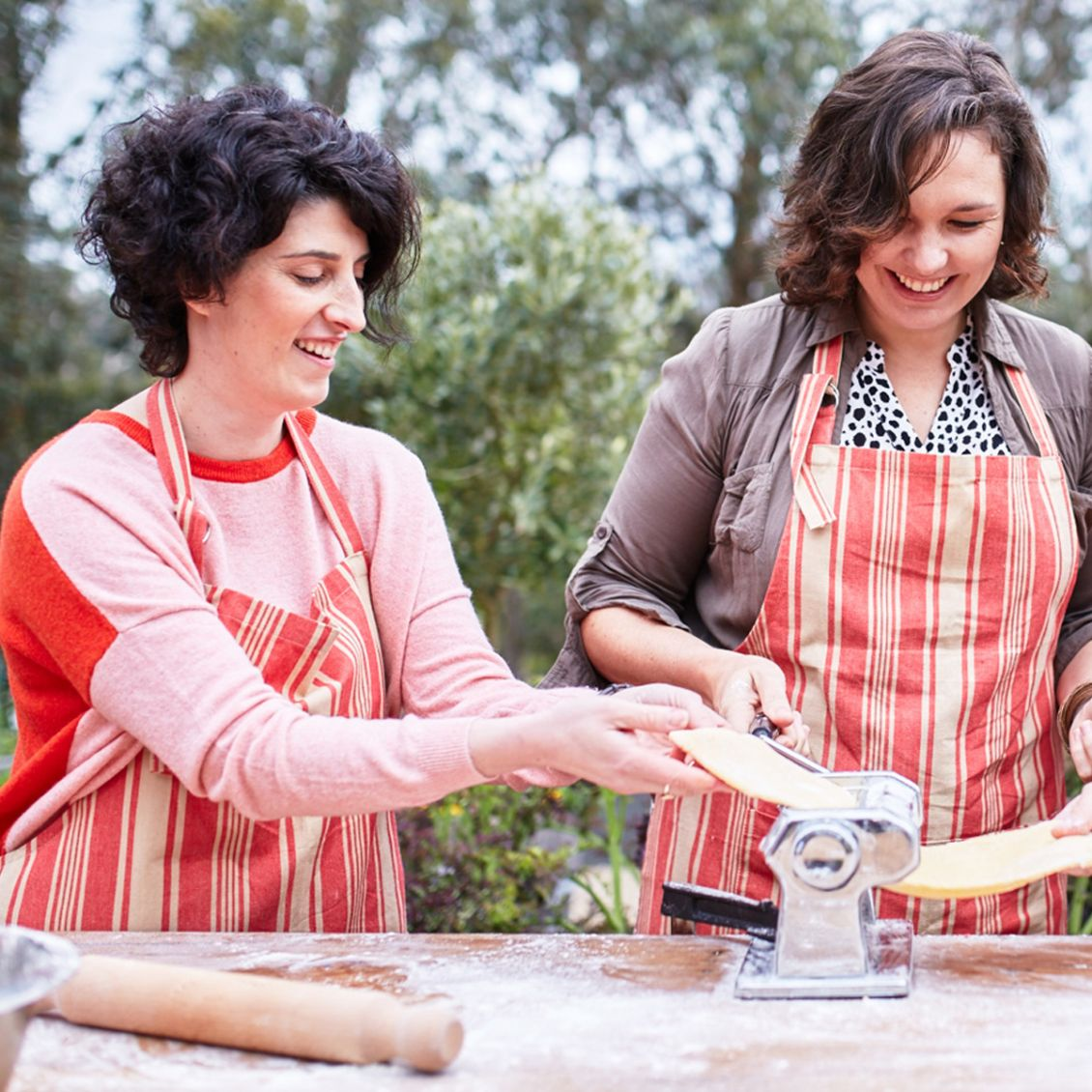 Pasta making at Green Olive Red Hill