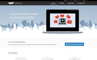 Image du site de la startup satisfactio.io