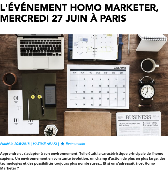 L'Homo Marketer SendinBlue