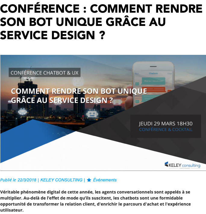Comment rendre son bot unique grace au service design