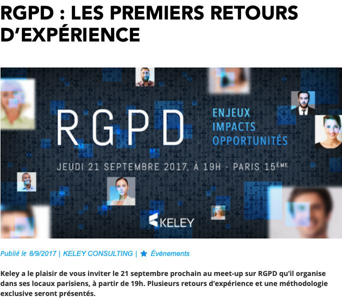 RGPD premiers REX