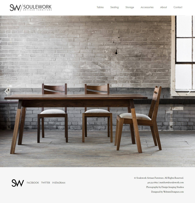 SouleWork Artisan Furniture Home Page