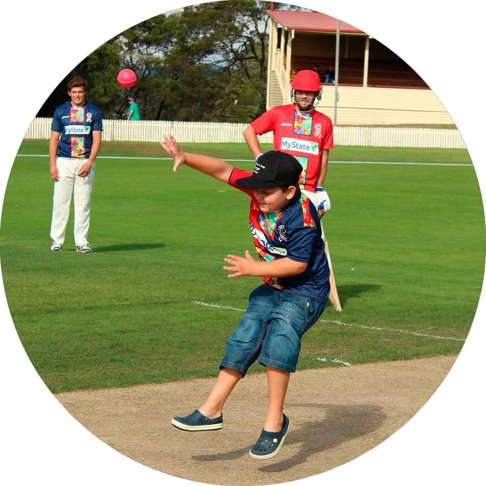 hugo throwing ball