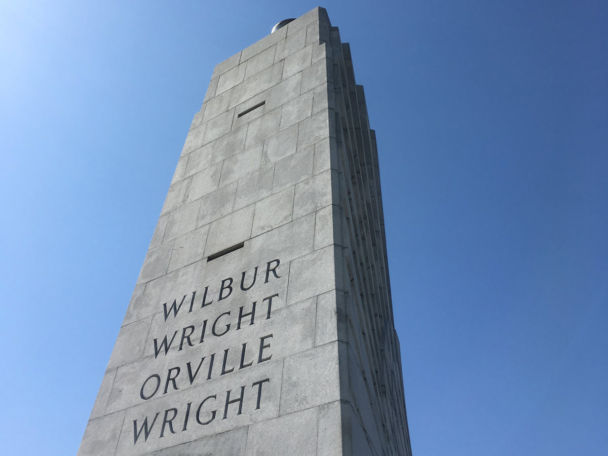 Wright Brothers National Memorial monument at the Outer Banks, North Carolina