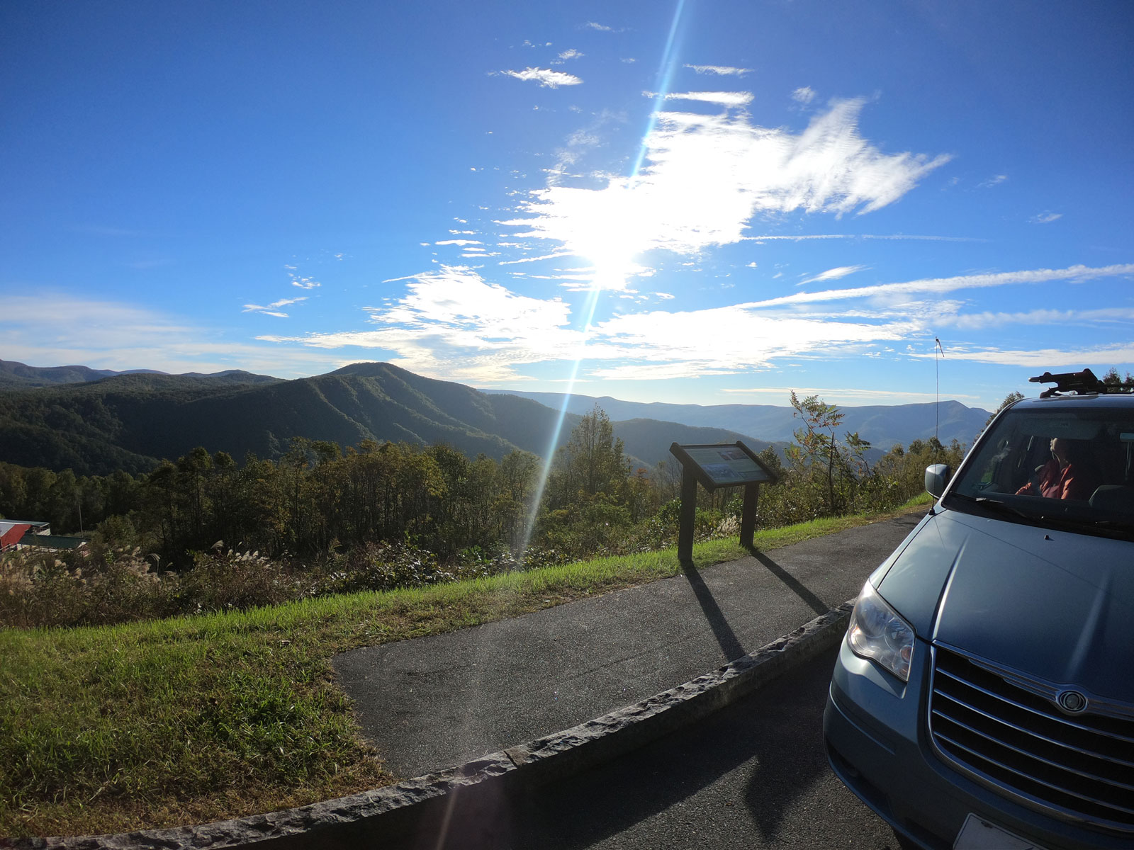 Overlooking the Blue Ridge Mountains from the Blue Ridge Parkway