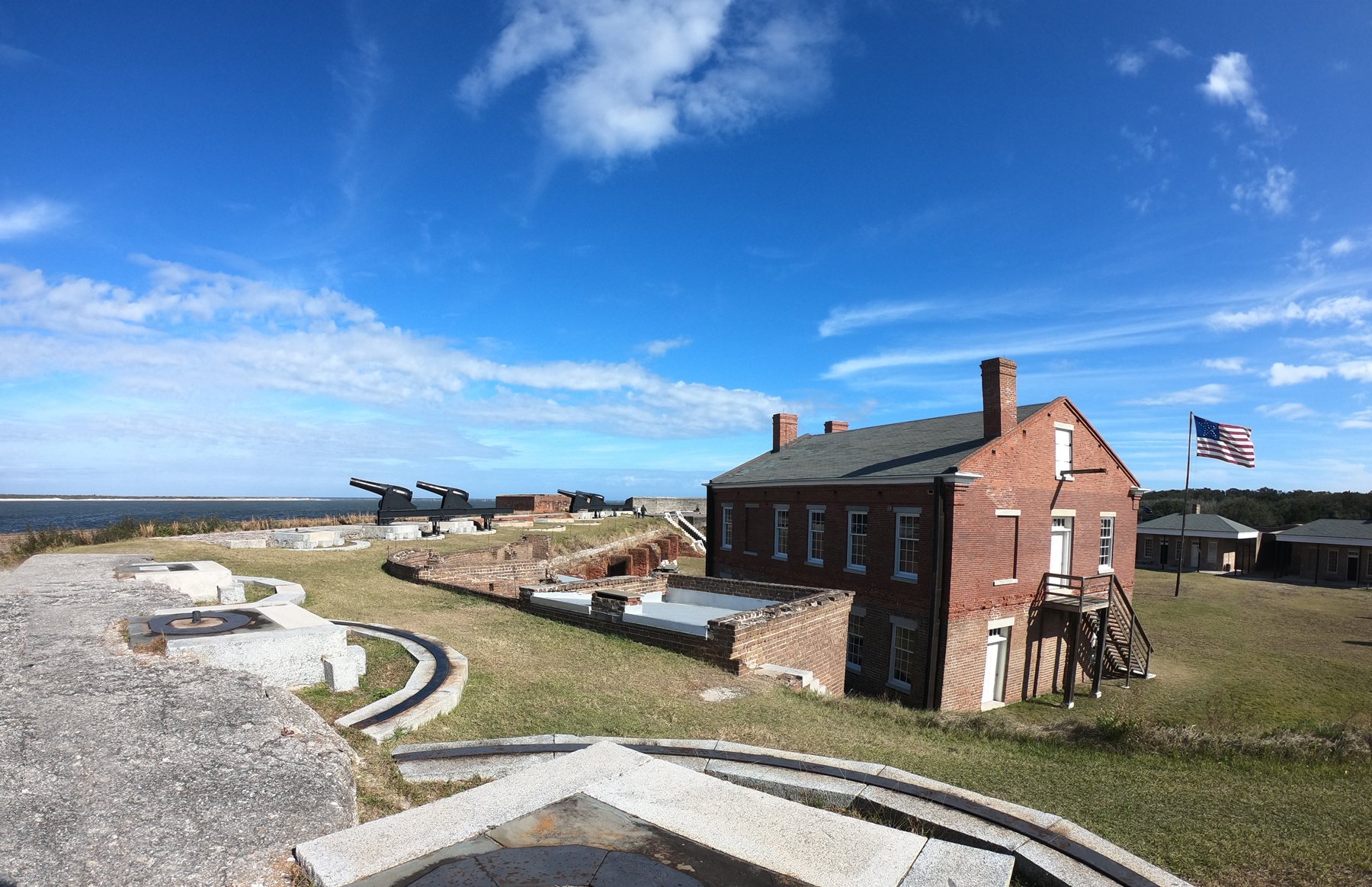 Camping and hiking at Fort Clinch State Park, Florida, Amelia Island