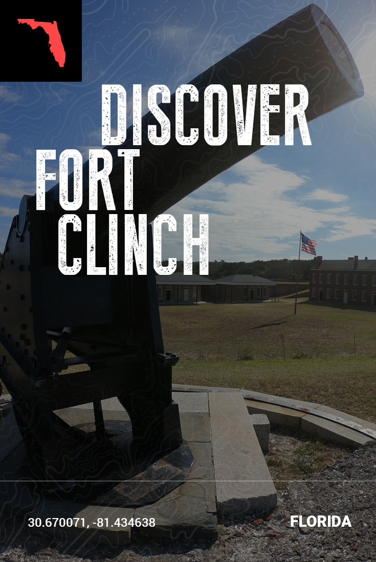 Pinterest pin of Fort Clinch State Park in Florida