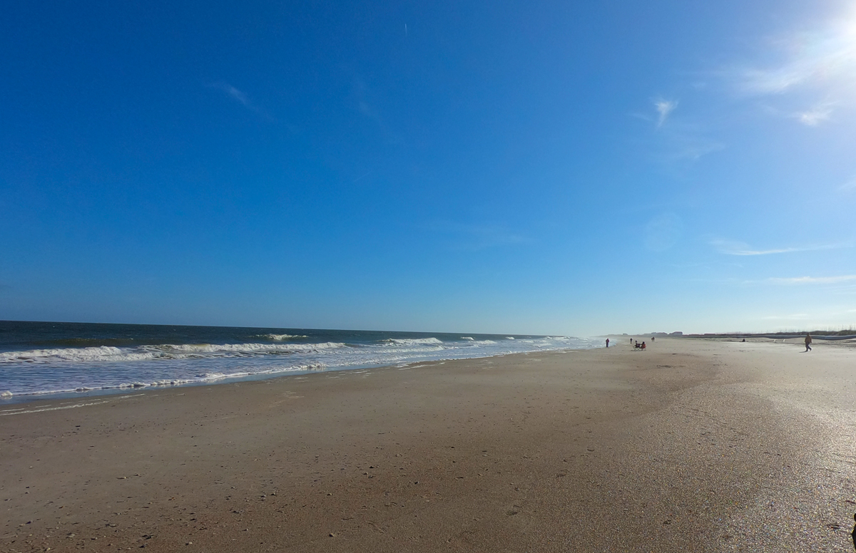 Best beach while camping at Fort Clinch State Park, Florida, Amelia Island