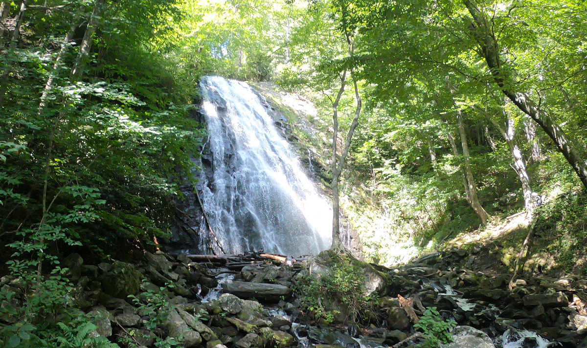 Crabtree Falls on the Blue Ridge Parkway in North Carolina