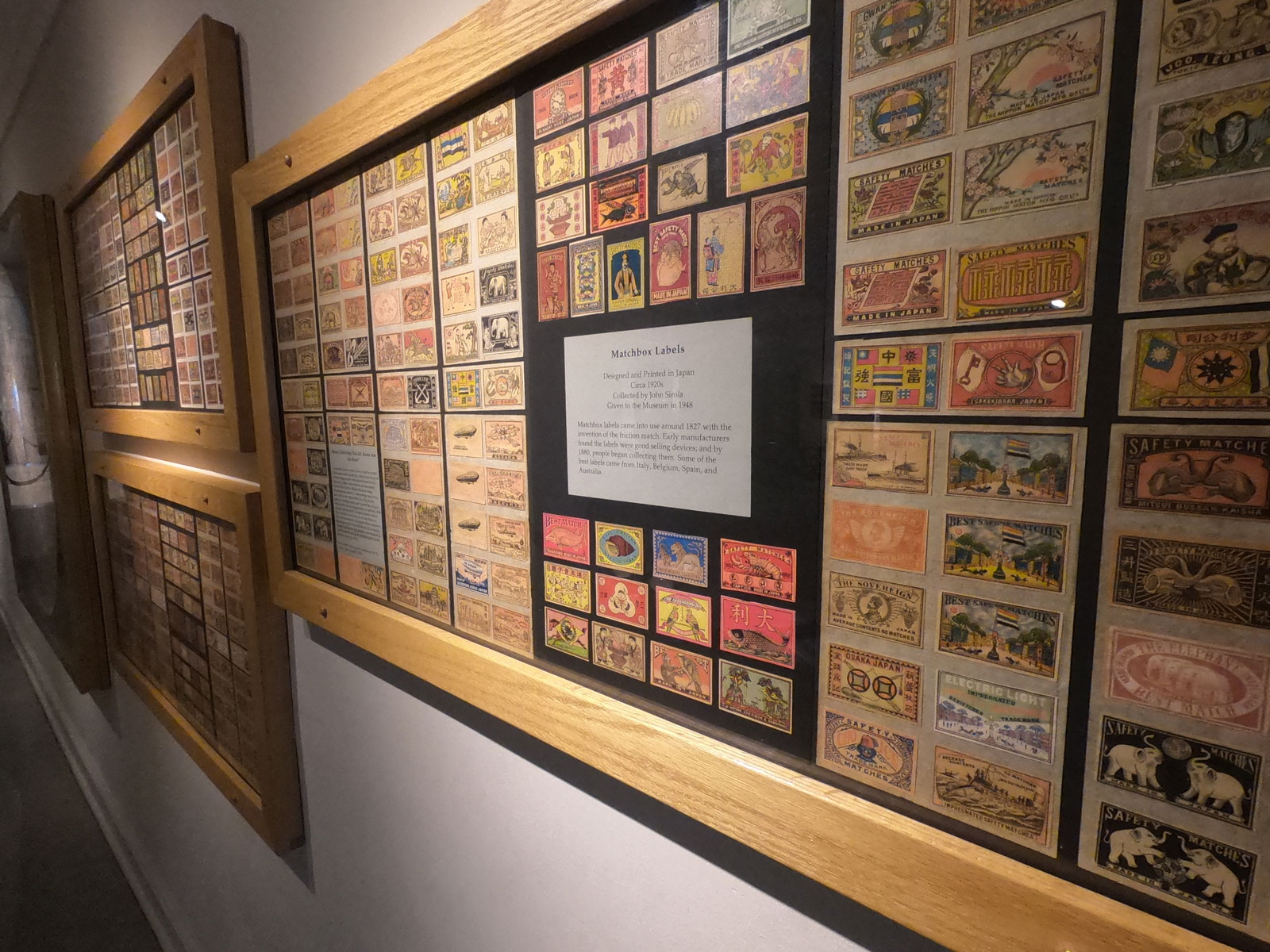 Matchbox collection on wall of Lightner Museum in Saint Augustine, Florida