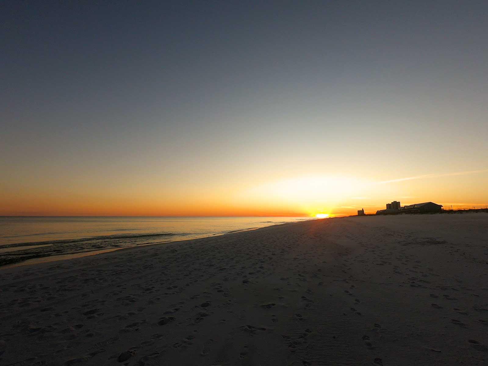 Setset view on Pensacola Beach, Florida