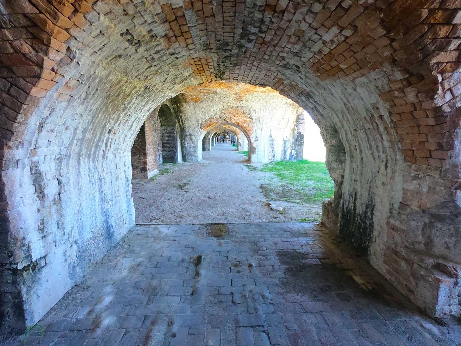 Brick archway construction at Fort Pickens, Pensacola Beach, Florida