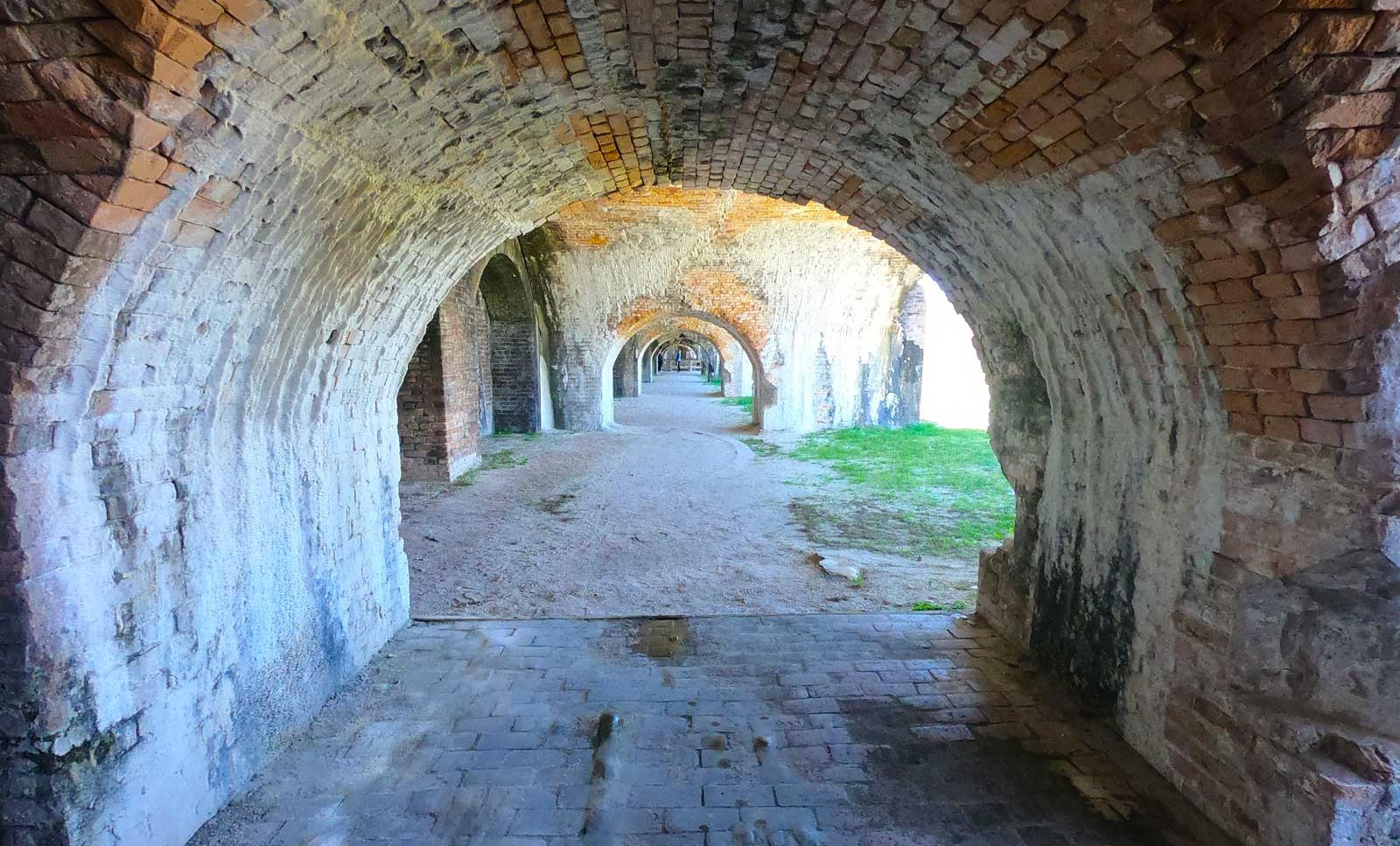 Brick archways at Fort Pickens, Pensacola Beach, Florida